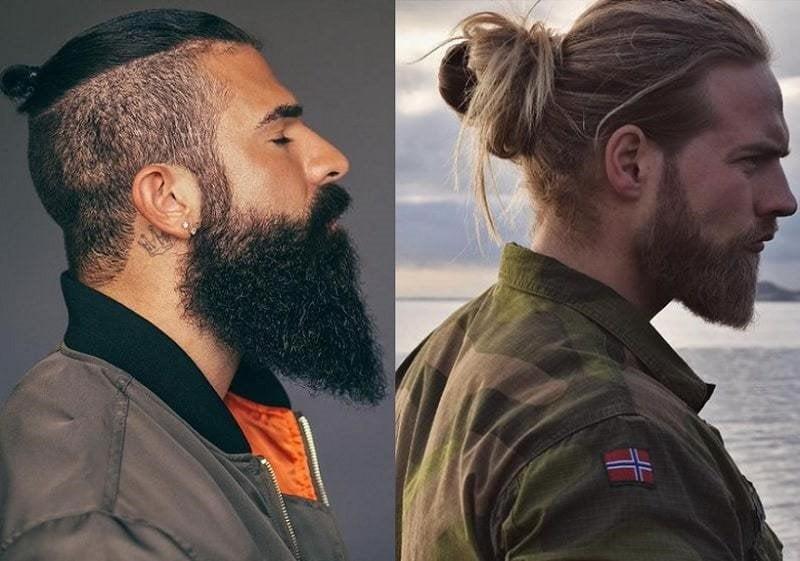 Barbe de viking en forme de V