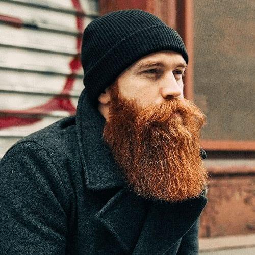 Barbe viking rousse
